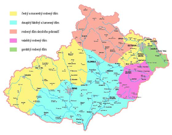 Typologie tradičních vesnických domů na Moravě