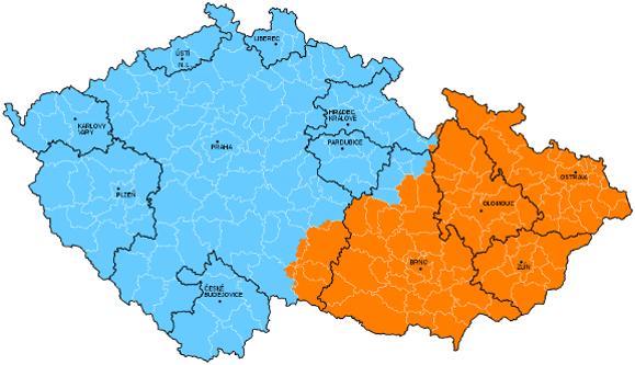 Spádovost dvanácti krajských měst ČR v rámci obvodů obcí s rozšířenou působností