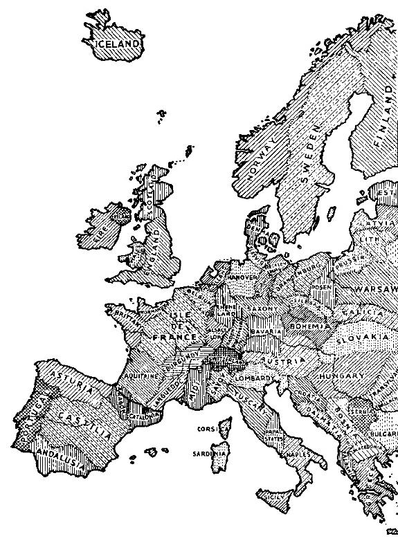 Evropa regionů bez Moravy, návrh z 1957