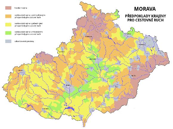 Morava - předpoklady krajiny pro turistický ruch