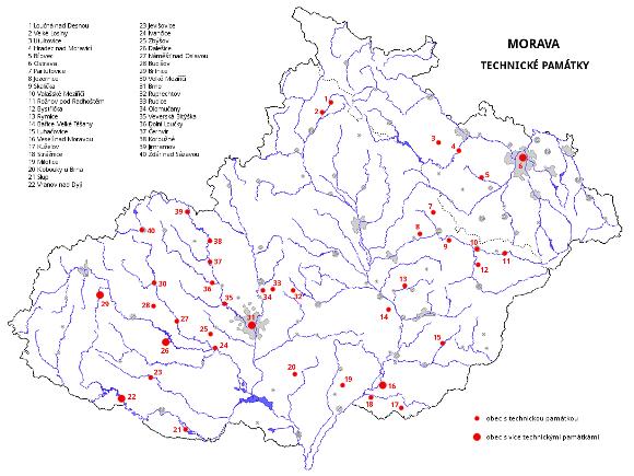 Morava - významné technické památky