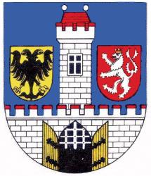 městský erb Českého Brodu s císařským orlem