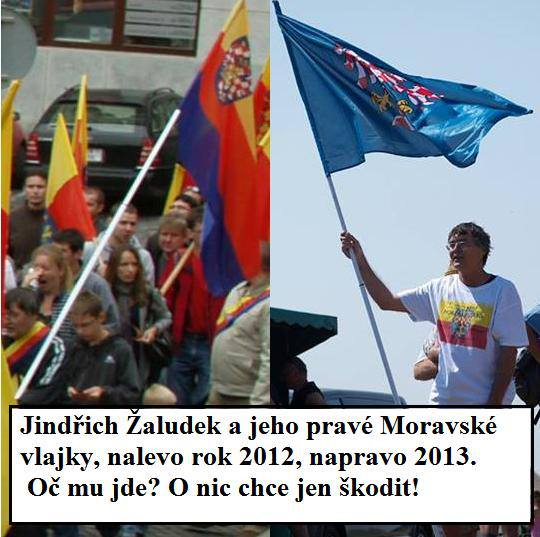 Jindřich Žaludek a jeho zaručeně jediné pravé moravské vlajky