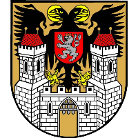 městský erb Tábora s císařským orlem