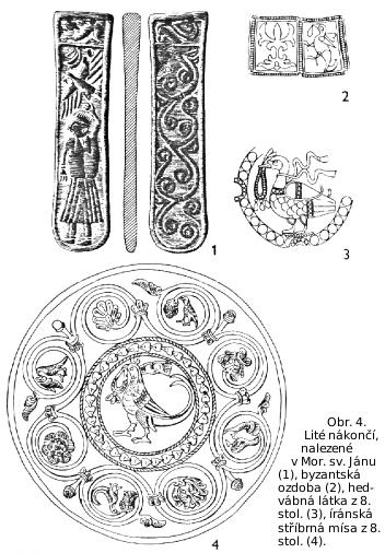 Různé ozdoby s náhrdelníkem v zobáku ptáka