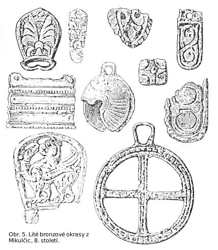 Lité bronzové ozdoby z Mikulčic