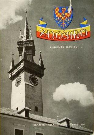 zlato-červené šachování moravské orlice na obálce knihy Lubomíra Havlíka